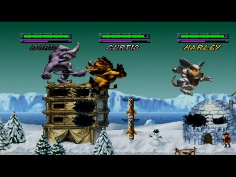 Rampage Through Time Complete Gameplay Adventure (PlayStation,PS1,PSX)