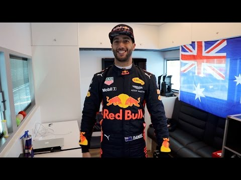 Inside Daniel Ricciardo's Driver Room
