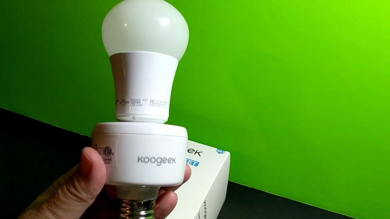 Koogeek Smart Socket - YouTube for Smart Bulb Socket  585eri