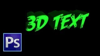 Photoshop : 3D Text Tutorial