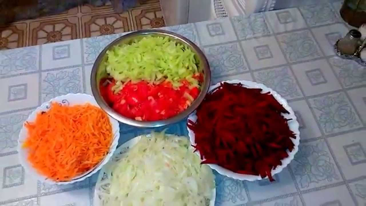 рецепты на зиму заготовка для борща