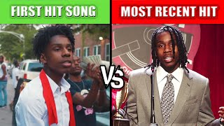 RAPPERS FIRST HIT SONG VS RAPPERS MOST RECENT HIT SONG 2021
