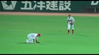 鈴木誠也もビックリwライトフライを菊池がスーパープレー!