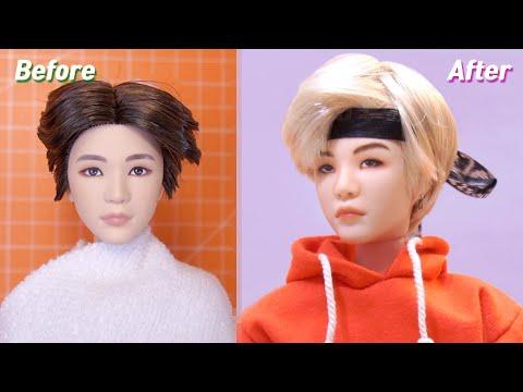 BTS x Mattel Dolls Repaint: Suga /     Fashion Doll