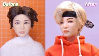 BTS x Mattel Dolls Repaint: Suga /방탄소년단 마텔 인형 슈가 리페인팅 Fashion Doll