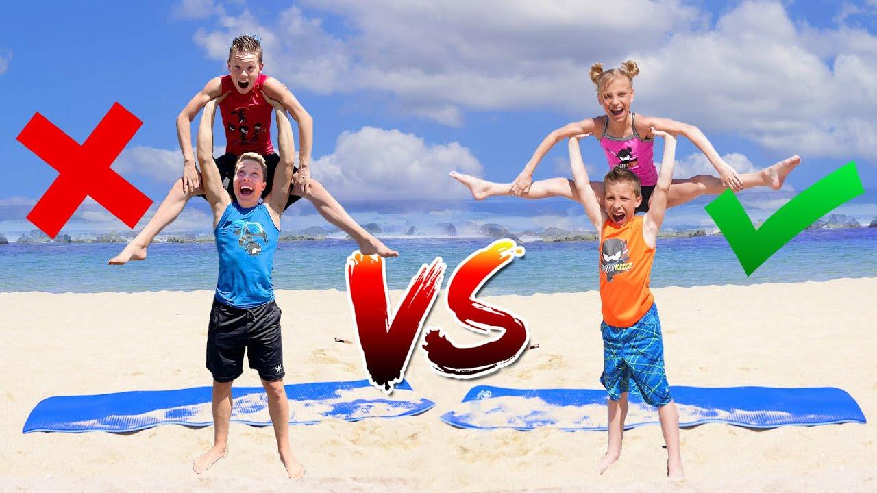 TWINS VS BROS Team Yoga Challenge with the Rybka Twins!