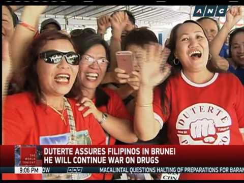 What Duterte told Filipinos in Brunei