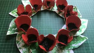 Egg Carton Poppies (ANZAC Day craft)