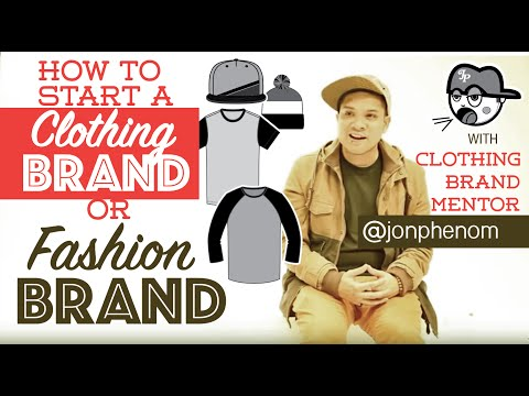 How to start a clothing line or fashion brand | by designer @JonPhenom