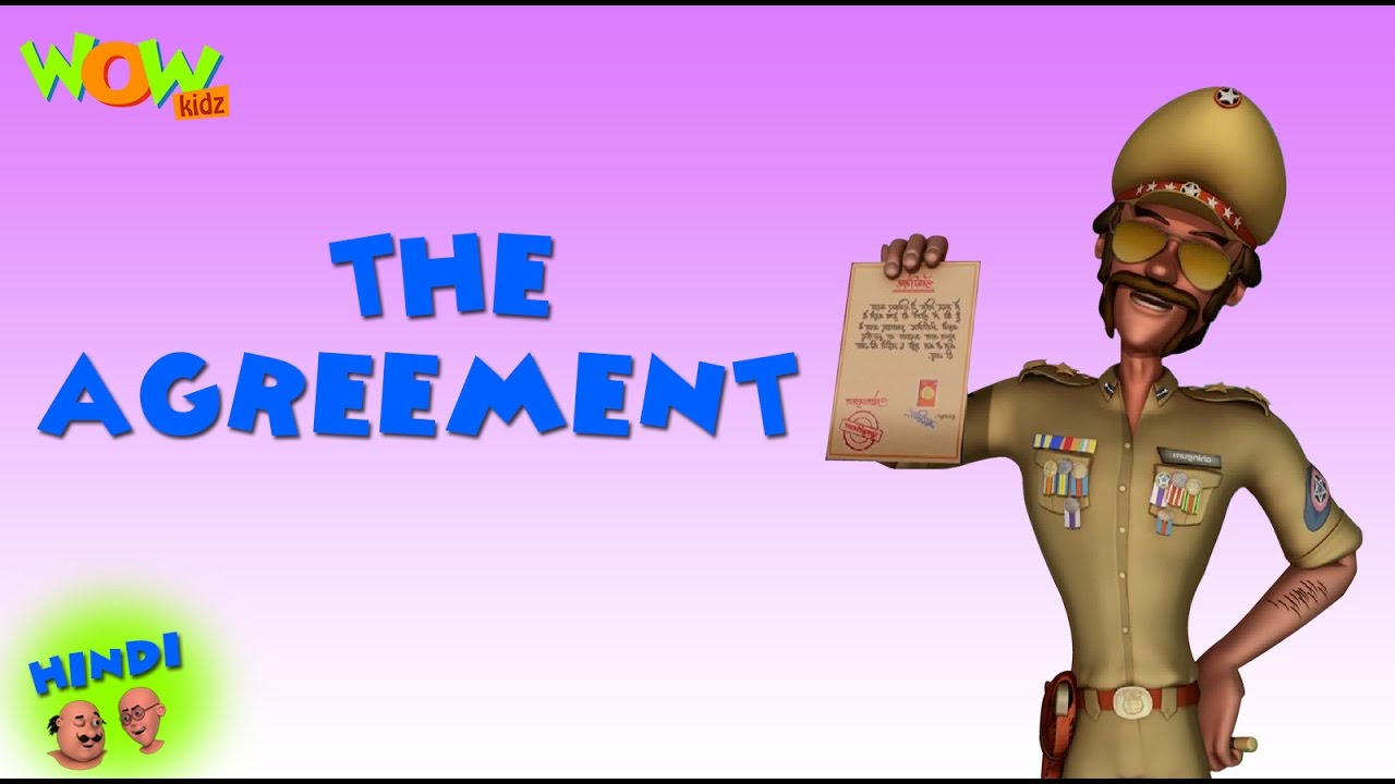 The Agreement - Motu Patlu in Hindi - 3D Animation Cartoon for Kids -As on Nickelodeon