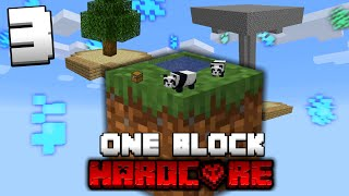 Minecraft One Block Skyblock, but it's HARDCORE! (#3)