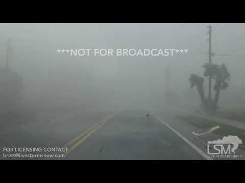 10-10-18 Mexico Beach, Florida - Michael Eastern Eyewall - Major Debris - Surge RAW
