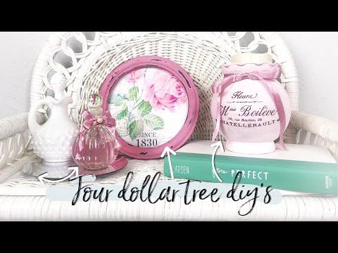 THREE DOLLAR TREE DIY'S   Romantic Shabby Chic, Glam Decor