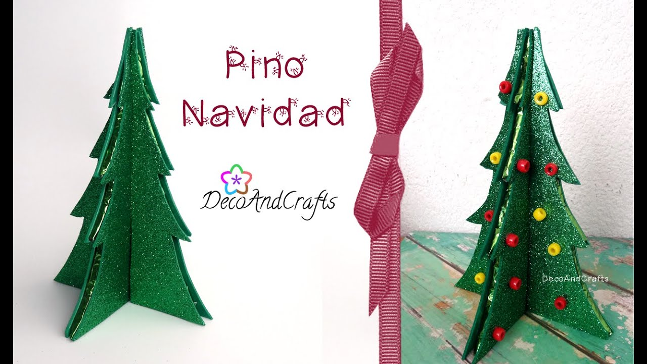 Arbol Navideo con Cartn DecoAndCrafts YouTube