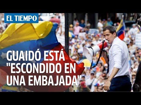 Maduro insinúa que Guaidó está  escondido en una embajada  en Venezuela