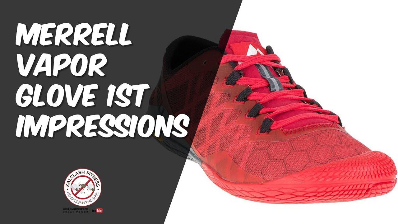 hot sale online 2712d e50a6 Merrell Vapor Glove 3 1st impressions - barefoot running shoe vs new  balance minimus   Vibram Bikila