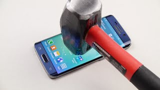 Samsung Galaxy S6 Edge Hammer & Knife Scratch Test thumbnail