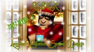 ROBLOX- Christmas Leopard Footie Pajamas