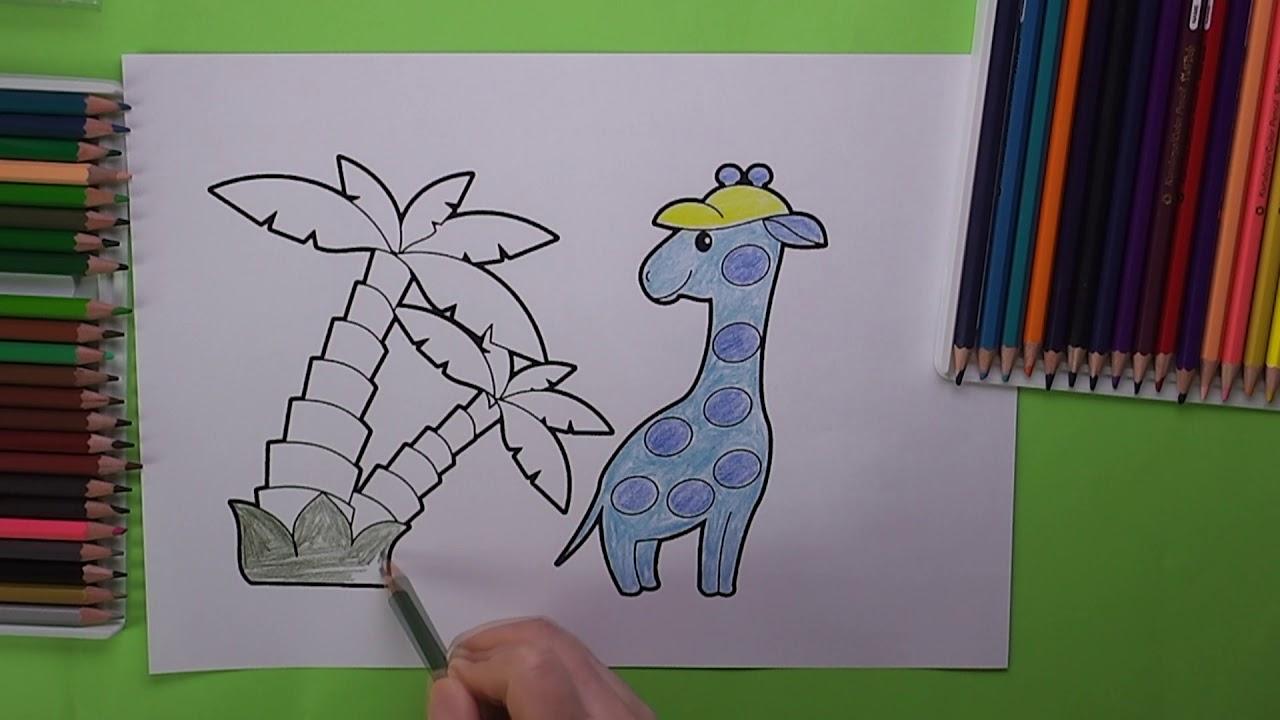 Mavi Zurafa Boyama Zurafa Nasil Boyanir Coloring Blue Giraffe