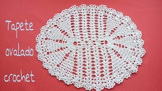tapete ovalado crochet