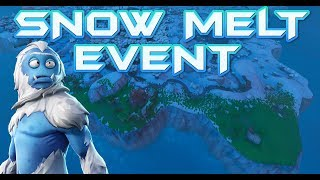 FORTNITE - SNOW MAP MELTING LIVE - FIRE KING PRISONER IS FREE AND MISSING - DRAGON EGGS UNHATCHED