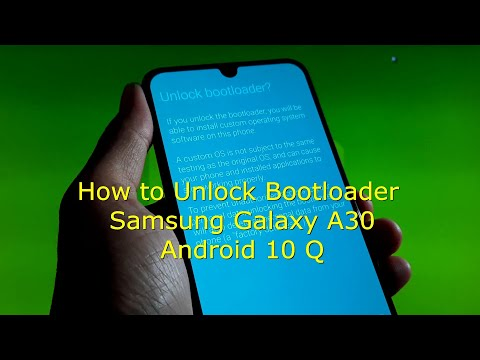 How to Unlock Bootloader Samsung Galaxy A30 Android 10 Q