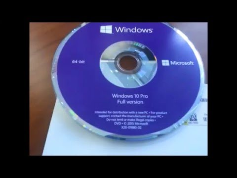how to get windows 10 in a cd
