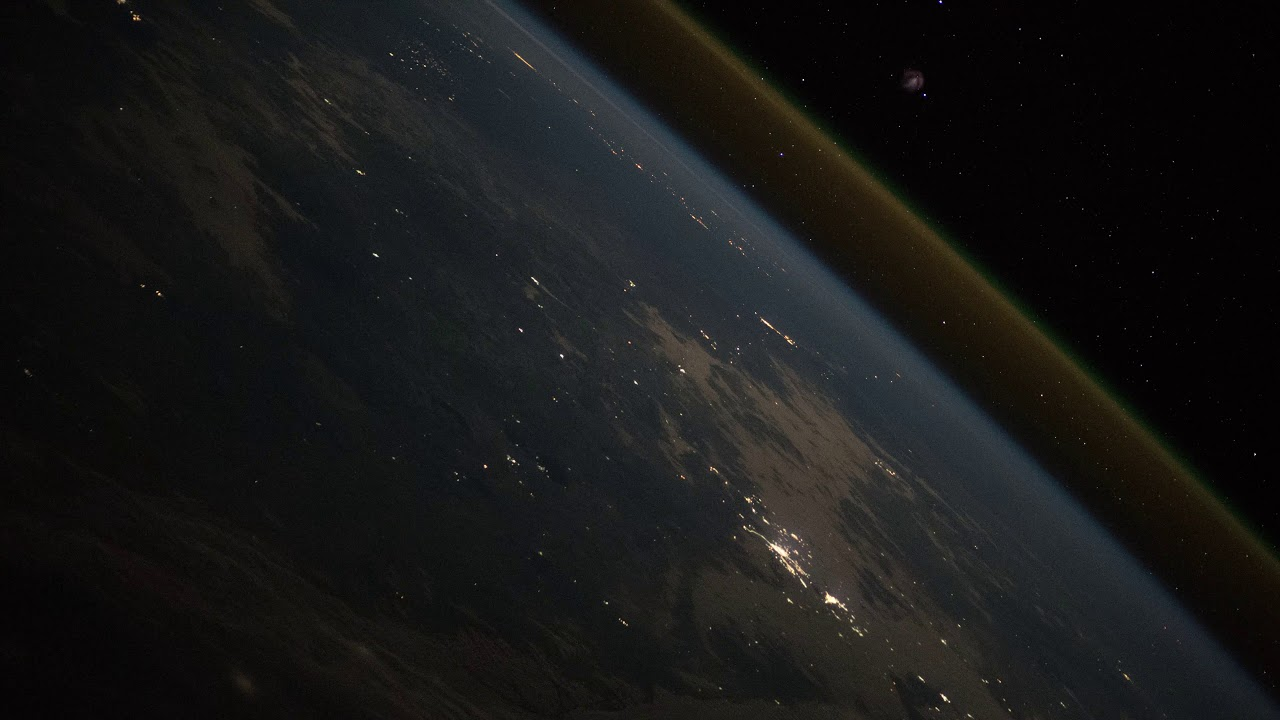 Image result for Progress MS-10 rocket launch as seen from the ISS.