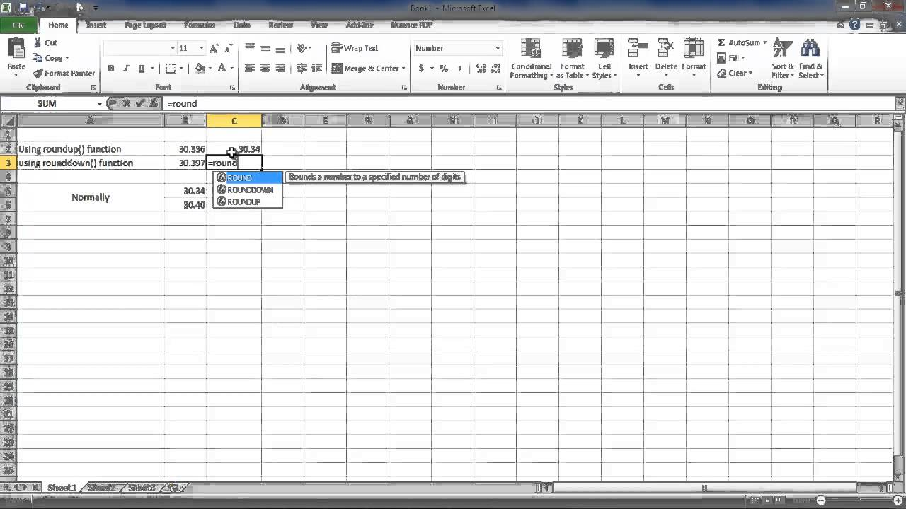 How To Keep Decimal Places Without Rounding Ms Excel