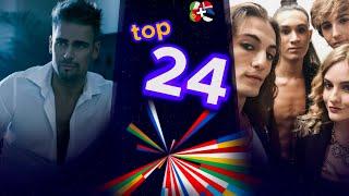 My Top 24 Eurovision 2021   NEW : Estonia 🇪🇪 Denmark 🇩🇰 Portugal 🇵🇹 Italy 🇮🇹
