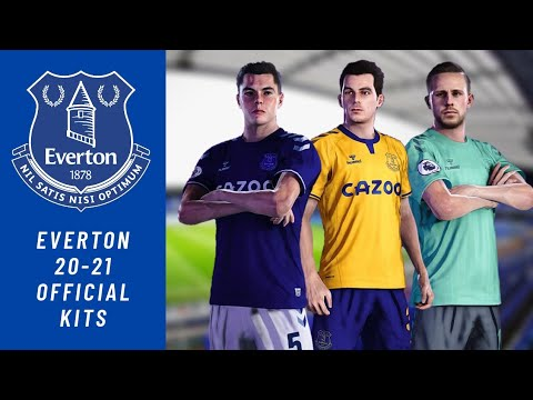 Everton 2020 21 Official Kits Pes 2020 Youtube