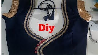 How To Apply And Attached Lase In Blouse With Colourfull Clothes
