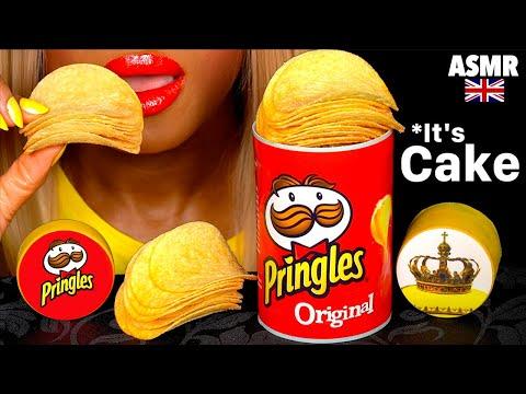asmr-eating-realistic-cake-pringles-theme,-edible-tube,-cake-cutting,-@pringles-oreo-mukbang-먹방