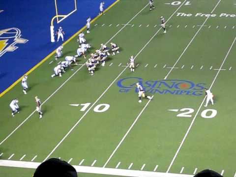 Argos/Bombers - Bishop Pass Knocked Down at the Goalline