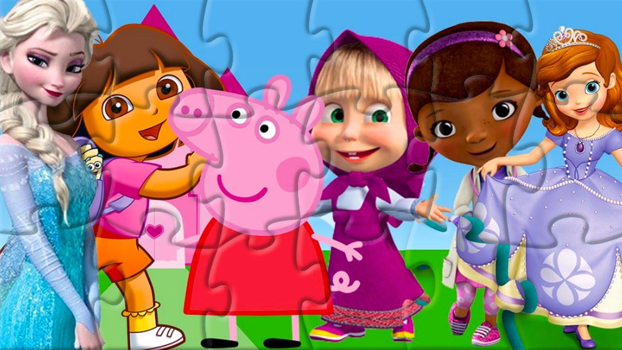 Rompecabezas De Dora Peppa Pig Doctora Juguetes Princesa
