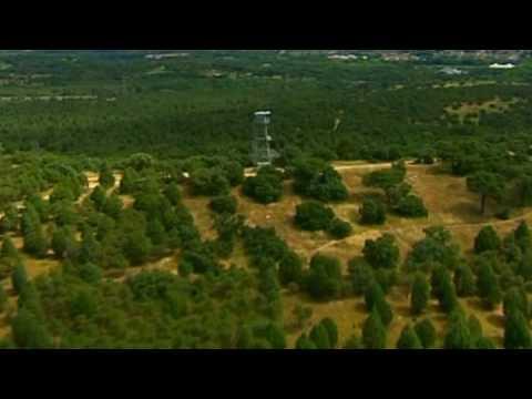 Overblik over det grønne Madrid. Video fra Spanien