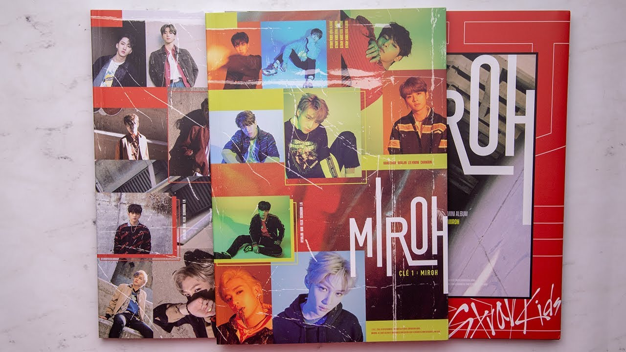Unboxing | Stray Kids Mini Album - CLE 1 : MIROH (Clé 1+ Miroh +Limited  Edition)