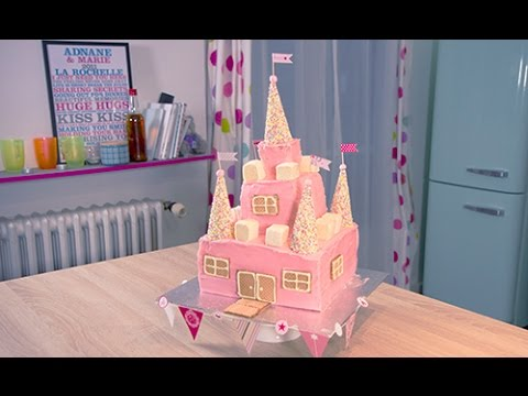 comment faire un g teau de princesse how to make a princess castle cake youtube. Black Bedroom Furniture Sets. Home Design Ideas
