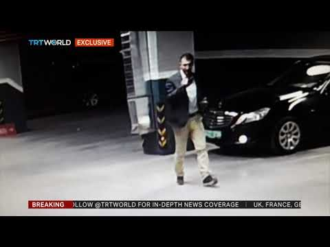 CCTV footage shows second vehicle near abandoned Saudi consulate car