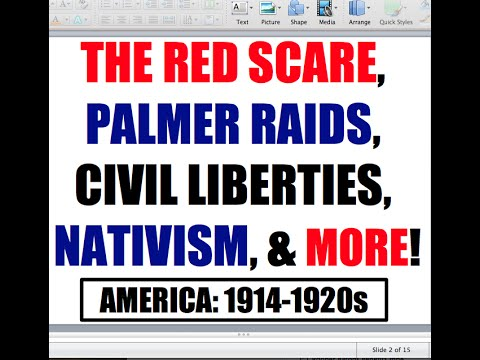 Sedition Act, Red Scare, & Palmer Raids Explained