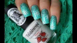 Новогодний маникюр со снежинками / New Year nails - Snowflakes Nail art tutorial