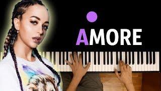 Мари Краймбери - AMORE ● караоке   PIANO_KARAOKE ● + НОТЫ & MIDI