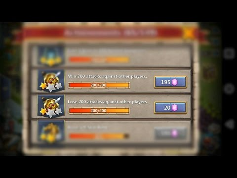 TWO ACHIEVEMENT DEFEATED IN A F2P ACC!!! -CASTLE CLASH