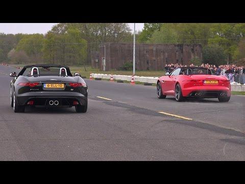 Jaguar F-TYPE S V6 vs F-TYPE V8 vs Audi R8 vs E63 AMG