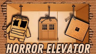 Roblox Horror Scary Elevator Animation Cardboard Jeu