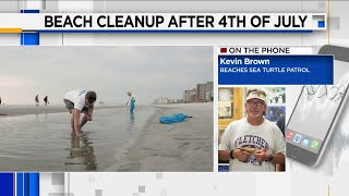 Beach Clean-Up After 4th of July