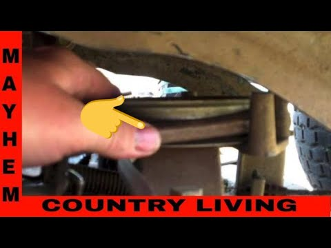 How To Change The Deck Belt Troy Bilt Riding Lawn Mower
