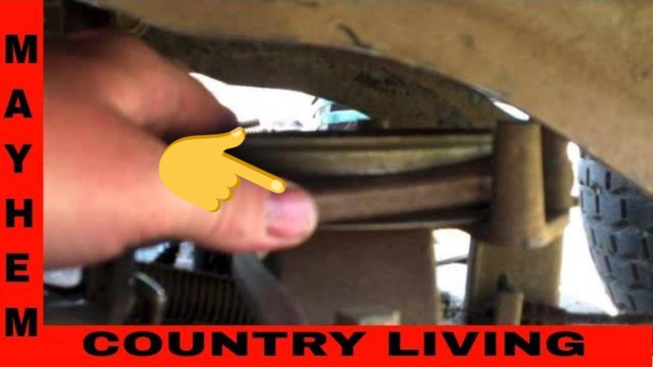 Troy Bilt Deck belt Replacement  YouTube