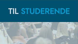 'Til studerende', Blackboard på Arts, Aarhus Universitet thumbnail