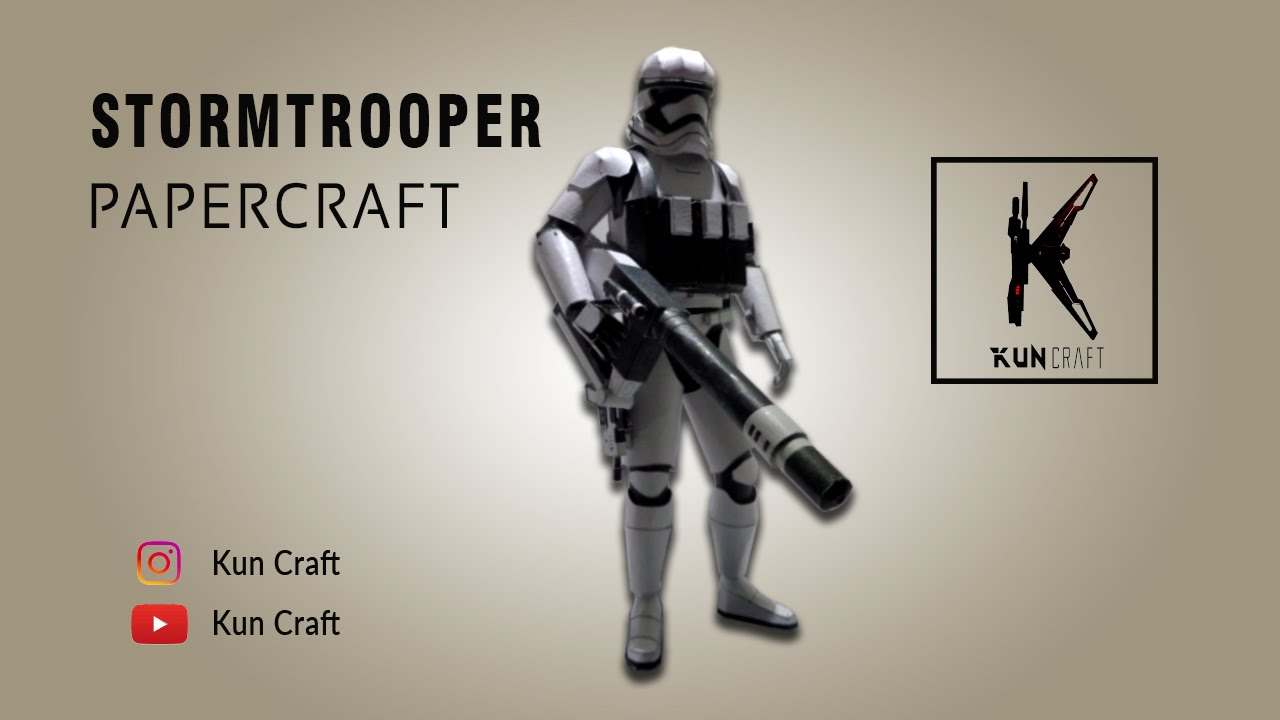 Papercraft Stormtrooper (Star Wars) l Papercraft Build l Time-lapse